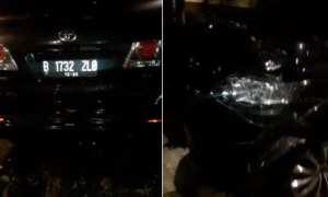 Kondisi mobil Setya Novanto (Suara.com)