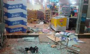 Dampak gempa di sebuah pusat perbelanjaan di Halabja, Irak, 12 November 2017. (JIBI/Reuters)
