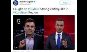 Akun Twitter yang mengunggah video live siaran saat gempa. (Istimewa/Twitter)