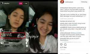Baim Wong merayu Cut Syifa (Instagram @lambenyinyir)