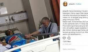 Curhat Jane Shalimar soal kematian ayahnya (Instagram @jshaz26)