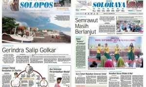 Harian Umum Solopos edisi Senin 27 November 2017