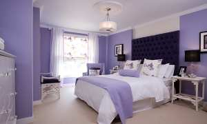 Ilustrasi kamar dicat dengan warna lavender (Mashable)