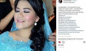 Kahiyang Ayu di Medan (Instagram @nicolasbulbul)