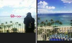 Lee Joo Yeon dan G-Dragon di Hawaii (Istimewa)