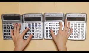 Memainkan theme song Super Mario menggunakan kalkulator (Youtube)