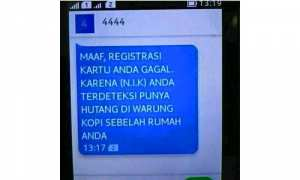 Meme registrasi kartu SIM (Facebook)