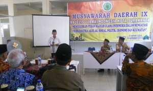 Ketua MUI Jateng, KH.Ahmad Daroji memberikan sambutan Musda ke-IX MUI Kota Solo, di Semanggi, Pasar Kliwon, Solo, Sabtu (4/11/2017). (Arif Fajar S/JIBI/Solopos)