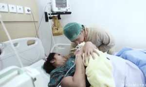 Olla Ramlan setelah melahirkan (Instagram @ollaramlanaufar)