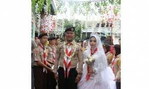 Pernikahan bertema pramuka di Jakarta (Instagram)