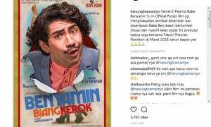 Poster Benyamin Biang Kerok (Instagram @hanungbramantyo)