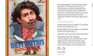 Poster film Benyamin Biang Kerok (Instagram @hanungbramantyo)