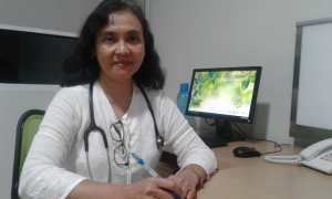 Dokter spesialis paru konsultan onkologi toraks dari RS Indriati Solo Baru, dr. Ana Rima Sp.P(K). (Shoqib Angriawan/JIBI/Solopos)