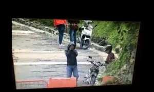 Rekaman aksi penjambretan di Bandung (Facebook)