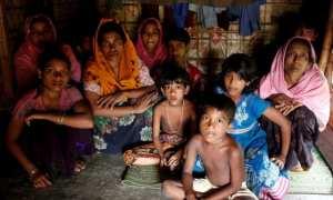 Salah satu keluarga pengungsi Rohingya di Bangladesh (Reuters)