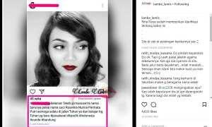 Seorang warganet mengucapkan selamat kepada Rina Nose yang telah mengganti nama (Instagram @lambe_lamis)