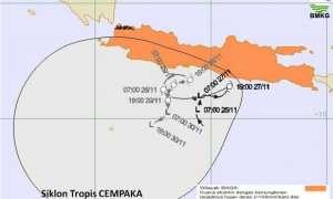 Siklon Tropis Cempaka (BMKG.go.id)