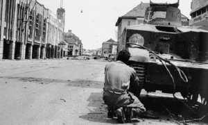 Tentara Inggris yang terlibat Pertempuran 10 November di Surabaya, 1945. (Wikimedia.org)