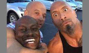 Tyrese Gibson, Vin Diesel, dan Dwayne Johnson. (Istimewa.Instagram)