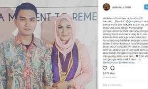 Ungkapan cinta Aldi Taher ke istrinya (Instagram @alditaher.official)
