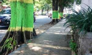 Kawasan sekitar Kantor Kabupaten Demak yang sudah bersih dari PKL. (Facebook.com-Gatot Sembara)