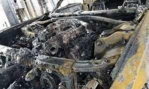 Dodge Challenger SRT Demon yang hangus terbakar. (Istimewa)