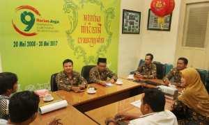 Kunjungan Sekolah Dasar (SD) Muhammadiyah Pakel ke Harian Jogja, Kamis (9/11/2017). (Desi Suryanto/JIBI/Harian Jogja)