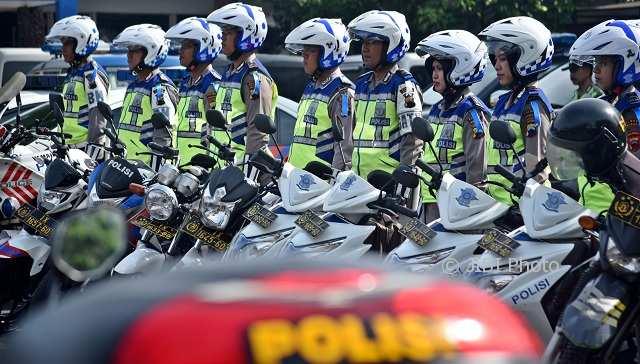 Ilustrasi anggota Polri pelaksana Operasi Zebra Candi 2017. (JIBI/Solopos/Antara/Aditya Pradana Putra)