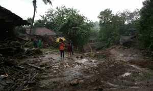 Kerusakan akibat banjir bandang yang terjadi di Wukirharjo Prambanan, Selasa (28/11/2017). (Abdul Hamid Razak/JIBI/Harian Jogja)