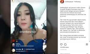 Capture video IG live Via Vallen (Instagram @lambenyinyir)
