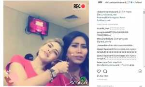 Capture video duet NIkita Mirzani dan Evi Masamba (Instagram @nikitamirzanimawardi_17)