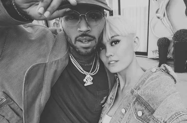 Chris Brown dan Agnez Mo (Instagram @agnezmo)