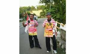 Dua Pria asal Ponorogo berniat jalan kaki ke Jakarta untuk temui Jokowi (Facebook)