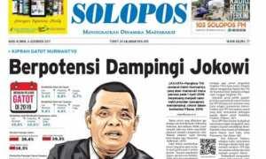 Halaman Depan Harian Umum Solopos hari ini, Rabu, 6 Desember 2017