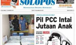 Halaman depan Harian Umum Solopos edisi Selasa, 5 Desember 2017.