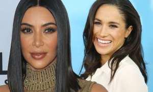 Kim Kardashian dan Meghan Markle (Mirror.co.uk)