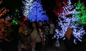 Taman Pelangi Jurug Solo saat malam tahun baru 2018 (Nicolous Irawan/JIBI/Solopos)