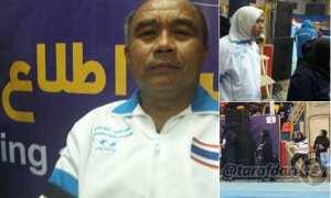 Pelatih Thailand memakai jilbab (Twiter)