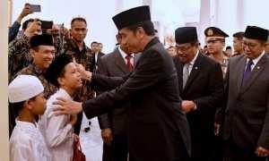 Presiden Jokowi memperingati Maulid Nabi bersama anak yatim (Kemenag.go.id)