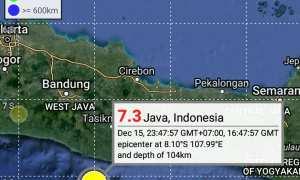 Pusat gempa Jumat (15/12/2017). (Twitter BMKG)