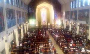 Perayaan Ekaristi Malam Natal 1 2017 di Paroki Santo Antoinus Padua, Kotabaru, Minggu (24/12/2017). (I Ketut Sawitra Mustika/JIBI/Harian Jogja)