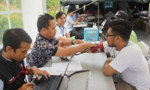Aksi donor darah dan pengobatan gratis diselenggarakan Jogja Bay Pirates Adventure Waterpark, Kamis (14/12/2017). (Foto istimewa)