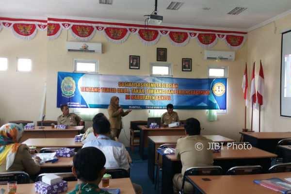 UPT Metrologi, Dinas Perdagangan Kab Bantul menggelar sosialisasi kemetrologian di Kabupaten Bantul. (Foto istimewa)