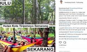 Suasana Hutan Kota Tinjomoyo di Kelurahan Tinjomoyo, Kecamatan Banyumanik, Kota Semarang, Jateng yang dipamerkan Wali Kota Semarang Hendrar Prihadi. (Instagram-@hendrarprihadi)
