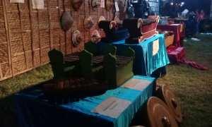 Gamelan dipamerkan di lapangan Dukuh Corocanan, Desa Solodiran, Kecamatan Manisrenggo, Minggu (31/12/2017). (Taufiq Sidik Prakoso/JIBI/Solopos)