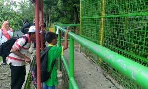 Kandang orang utan di Taman Satwa WGM Wonogiri, Minggu (21/1/2018). (Rudi Hartono/JIBI/Solopos)