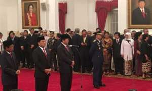 Presiden Jokowi melantik sejumlah nama di jajaran Kabinet Kerja pagi ini, Rabu (17/1/2018). (JIBI/Suara.com/Erick Tanjung)