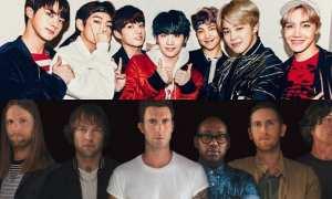 BTS dan Maroon 5 (Allkpop)