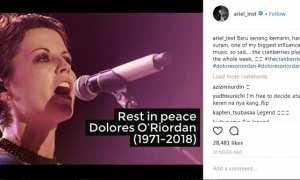 Cara Ariel Noah mengenang Dolores O'Riordan (Instagram @ariel_inst)