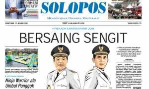 Halaman Depan Harian Umum Solopos edisi Jumat